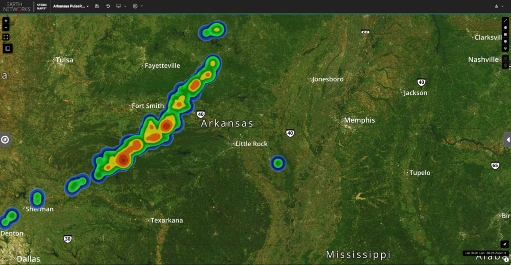 Stormy Evening Headed for Arkansas #ARWX – Nathan Parker